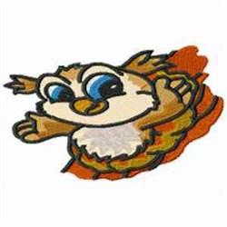 Owl Cartoon embroidery design