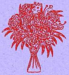 Redwork Florals embroidery design