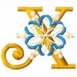 Snowflake X embroidery design