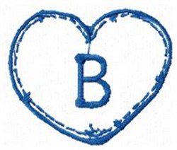 Country Heart B embroidery design
