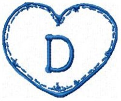 Country Heart D embroidery design