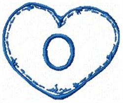 Country Heart O embroidery design