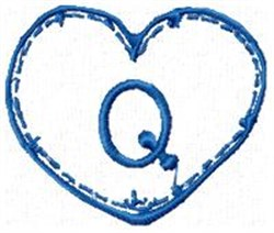 Country Heart Q embroidery design
