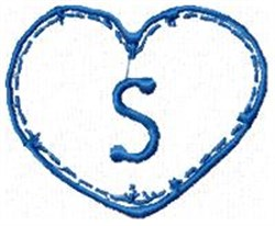 Country Heart S embroidery design