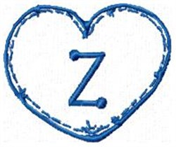 Country Heart Z embroidery design