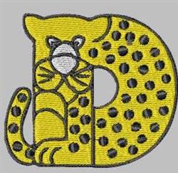 Critter Font D embroidery design