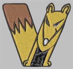 Critter Font V embroidery design