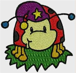 Night Ladybug embroidery design