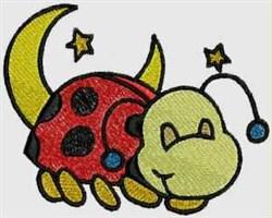 Sleeping Ladybug embroidery design