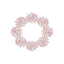 Daisy Circle embroidery design