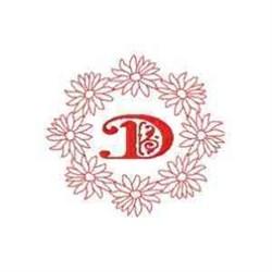 Daisy D embroidery design