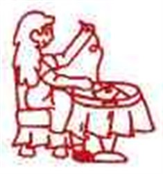 Redwork Woman Quilting embroidery design