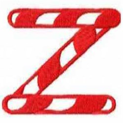Candy Cane Z embroidery design