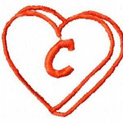 Heart C embroidery design