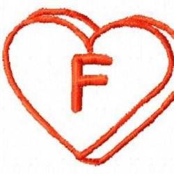 Heart F embroidery design