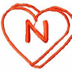 Heart N embroidery design