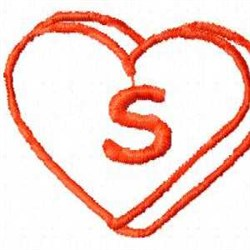 Heart S embroidery design