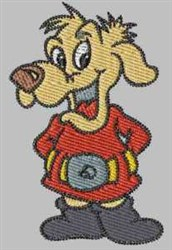 Cartoon Hound embroidery design