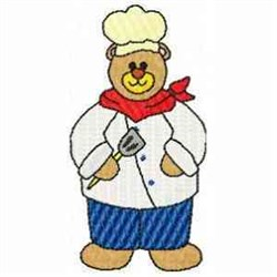 Chef Bear embroidery design
