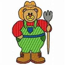 Farmer Bear embroidery design