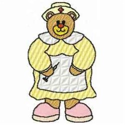 Nurse Bear embroidery design