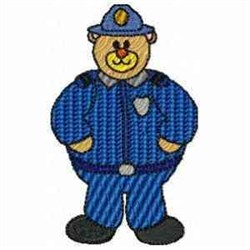 Police Bear embroidery design
