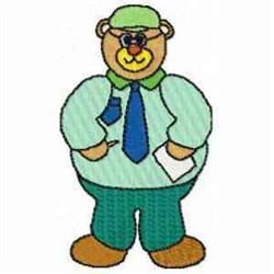 Business Bear embroidery design