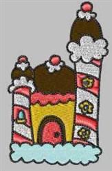 Dessert Castle embroidery design