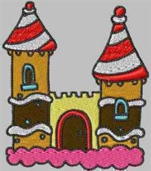 Icing Castle embroidery design