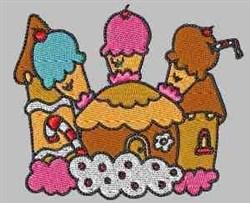 Ice Cream Castle embroidery design