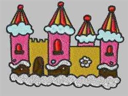 Whipped Cream Castle embroidery design