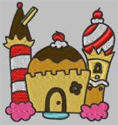 Chocolate Castle embroidery design