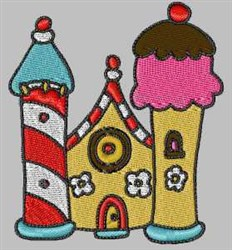 Ice Cream Castle embroidery design