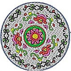 Flower Circle embroidery design