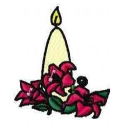 Floral Candle embroidery design