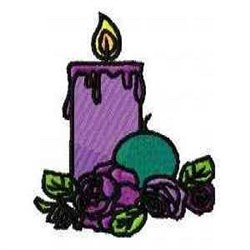 Flower Candle embroidery design