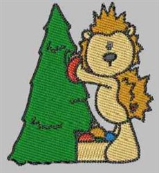 Hedgehog Christmas Tree embroidery design