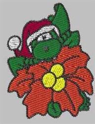 Christmas Gator embroidery design