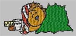 Christmas Eve Hedgehog embroidery design