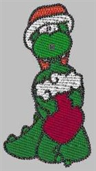 Santa Gator embroidery design