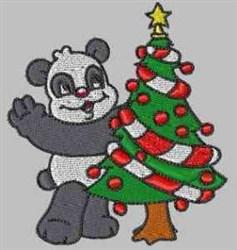 Panda Christmas embroidery design