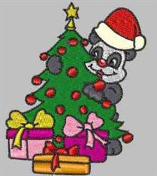 Holiday Panda embroidery design