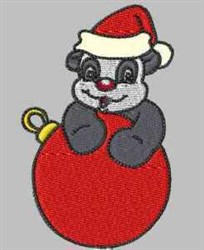 Panda Ornament embroidery design