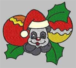 Panda Christmas embroidery design