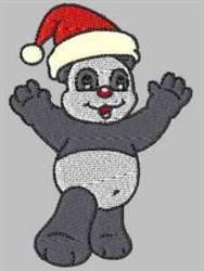 Panda Santa Hat embroidery design