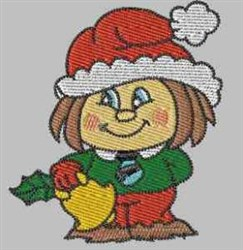 Christmas Scarecrow embroidery design