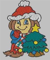 Christmas Girl embroidery design