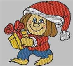 Christmas Girl embroidery design