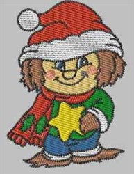 Holiday Scarecrow embroidery design