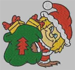 Christmas Sack embroidery design